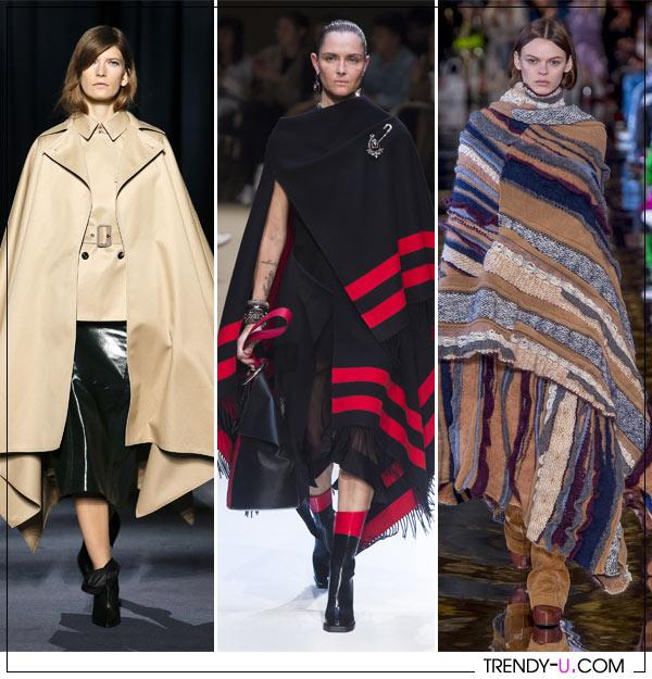 Модные образы осени 2019: пончо, блузки, трикотаж и, конечно, деним