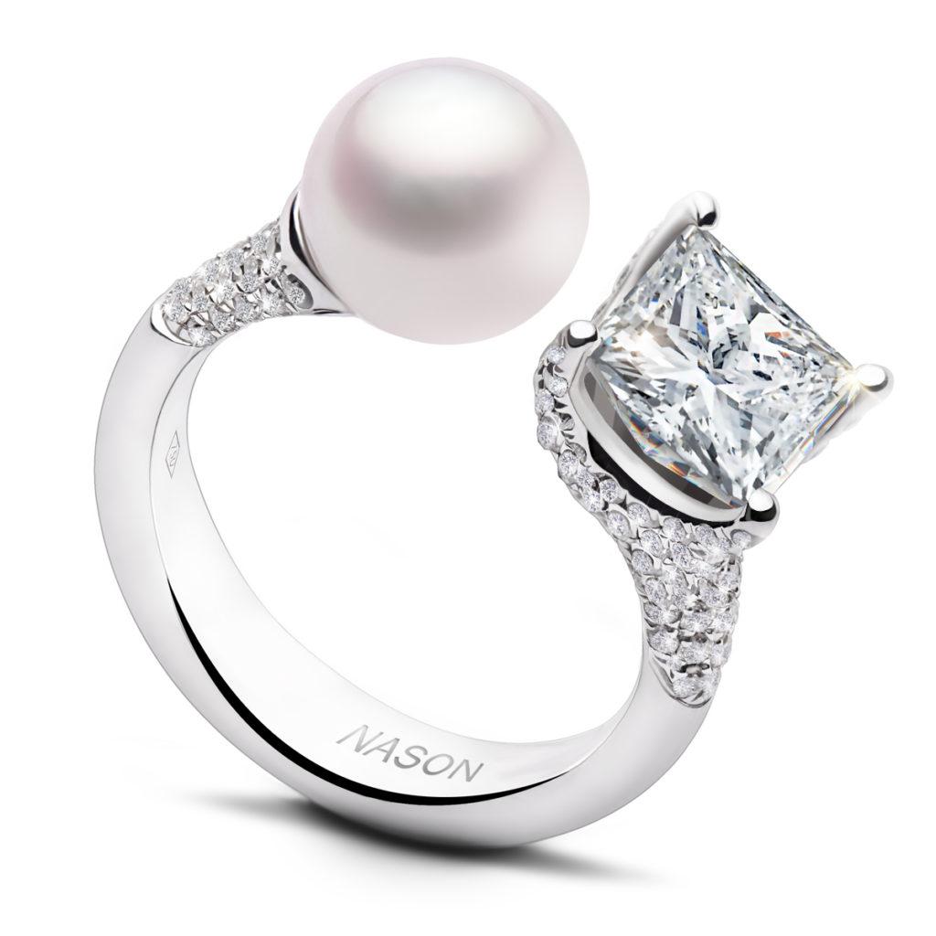 """Помолвочное кольцо """"Он и Она"""" от Nasonpearl"""